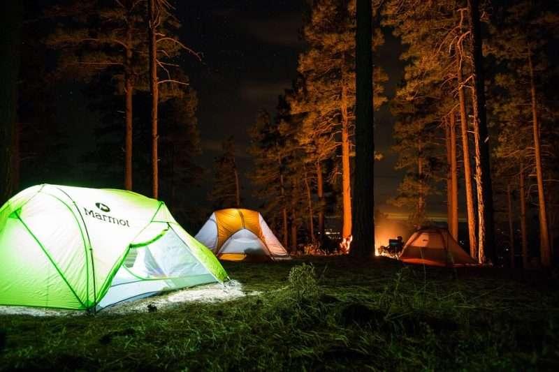 Verschillende soorten tenten